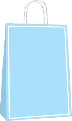 25x12x31 Büküm Saplı Poşet 25li -Makaron Mavi-