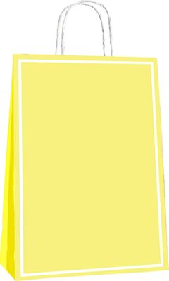 25x12x31 Büküm Saplı Poşet 25li -Makaron Sarı-