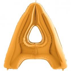 - A Harf Grabo Altın Folyo Balon 102 cm