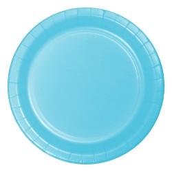 - Açık Mavi Pastel Karton Tabak 23 cm 8'li