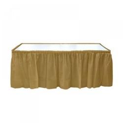 Kikajoy - Altın Plastik Masa Eteği 75x426 cm