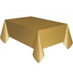 - Altın Plastik Masa Örtüsü 137x270 cm
