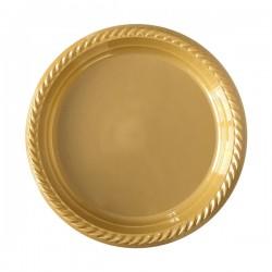 Kikajoy - Altın Plastik Tabak 22 cm