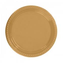 - Altın Plastik Tabak 26 cm 8'li