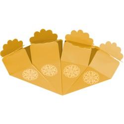 Kikajoy - Kikajoy Altın Şeker Külahı Altın Yaldız Baskılı 24'lü