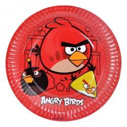 - Angry Birds Karton Tabak 23 cm 8'li