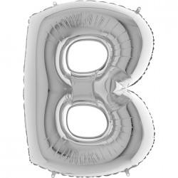 - B Harf Grabo Gümüş Folyo Balon 102 cm