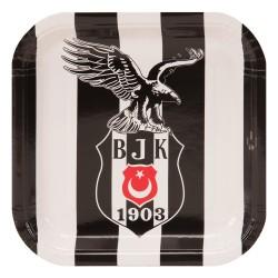 - Beşiktaş Karton Kare Tabak 21 cm 8'li