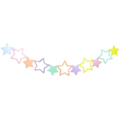 BNR82 Makaron Renkli Yıldızlar Afiş Süs