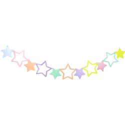 BNR82 Makaron Renkli Yıldızlar Afiş Süs - Thumbnail