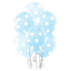 - Çepeçevre Açık Mavi Puantiyeli Balon 100'lü