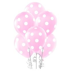 - Çepeçevre Açık Pembe Puantiyeli Balon 100'lü