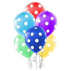 - Çepeçevre Beyaz Puantiyeli Balon 100'lü