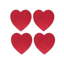 - Çift Taraflı 4'lü Kalp Strafor Süs