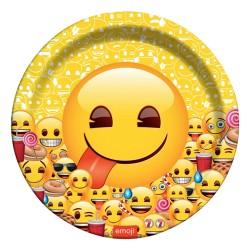 - Emoji Dünyası Karton Tabak 23 cm 8'li
