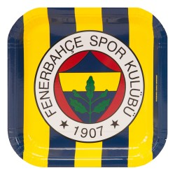 - Fenerbahçe Karton Kare Tabak 21 cm 8'li