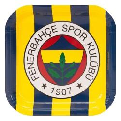 - Fenerbahçe Karton Kare Tabak 23 cm 8'li