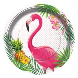 - Flamingo Karton Tabak 23 cm 8'li