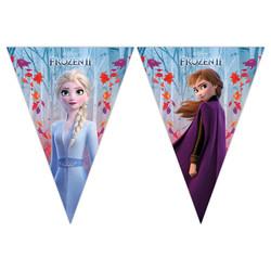 - Frozen 2 Lisanslı Üçgen Bayrak Afiş