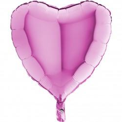 - Fuşya Kalp Grabo Folyo Balon 46 cm