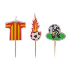 - Futbol Temalı Kürdan Mum Set