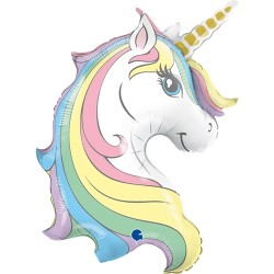 Grabo - Unicorn Head Grabo Folyo Balon 39
