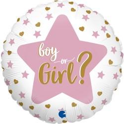 Grabo - Boy Or Girl Star Grabo Folyo Balon 18