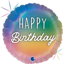 Grabo - Rainbow Happy Birthday Grabo Folyo Balon 18