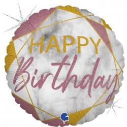 Grabo - Happy Birthday Rose Gold Grabo Folyo Balon 18
