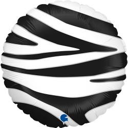 Grabo - Zebra Striped Grabo Folyo Balon 18