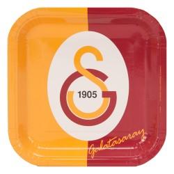 - Galatasaray Karton Kare Tabak 21 cm 8'li