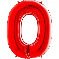 Grabo - 0 Rakam Grabo Kırmızı Folyo Balon 102 cm