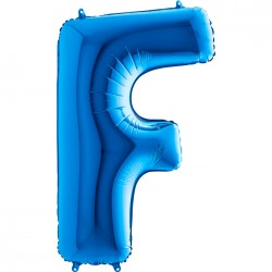 - F Harf Grabo Mavi Folyo Balon 102 cm