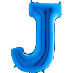 - J Harf Grabo Mavi Folyo Balon 102 cm