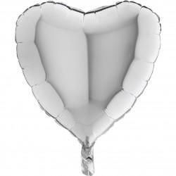 - Kalp Grabo Folyo Balon Gümüş 46 cm