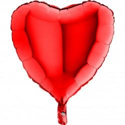 - Kalp Grabo Folyo Balon Kırmızı 46 cm