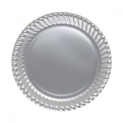 Kikajoy - Gümüş Karton Tabak 23 cm