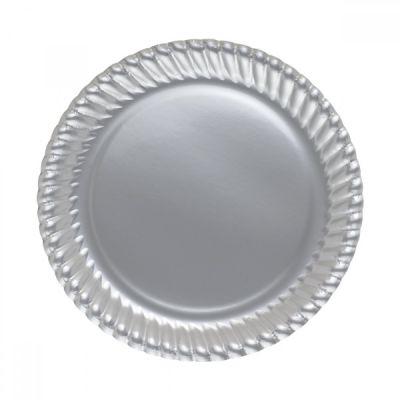 Gümüş Karton Tabak 23 cm
