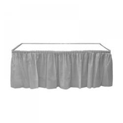 Kikajoy - Gümüş Plastik Masa Eteği 75x426 cm