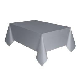 Kikajoy - Gümüş Plastik Masa Örtüsü 137x270 cm