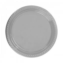 - Gümüş Plastik Tabak 26 cm 8'li