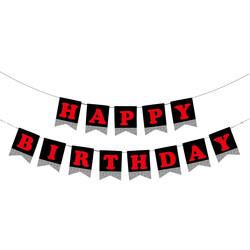 - Happy Birthday Gümüş Simli Harf Afiş