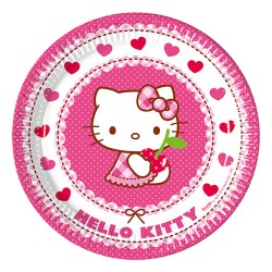 - Hello Kitty Karton Tabak 23 cm 8'li