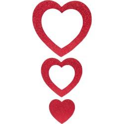 - İç İçe Kalp Strafor Süs Kırmızı