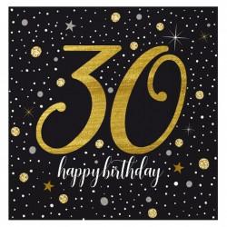 - Işıltılı Doğum Günü Kağıt Peçete 30 Yaş