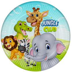Balonevi Marka Ürünler - Karton Tabak 8li Jungle Club