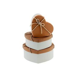 Kalp Biçimli Hediye Kutusu Seti 3lü -KT713- - Thumbnail