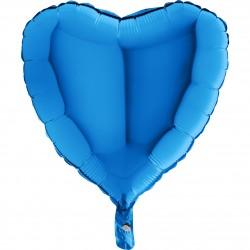 - Kalp Grabo Folyo Balon Mavi 46 cm