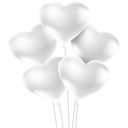 Kikajoy - Kikajoy Kalp Balon Beyaz 100lü