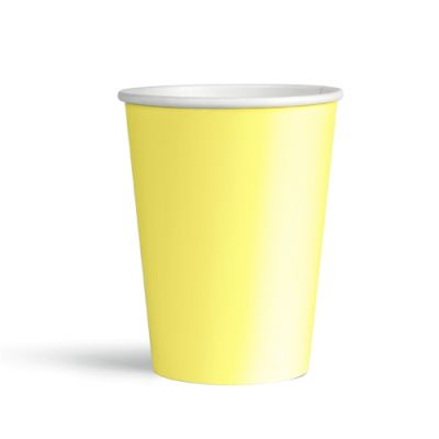 Sarı Makaron Karton Bardak